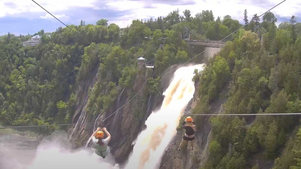 tyrolienne aux Chutes Montmorency